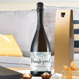 Personalised Floral Thank You Prosecco Bottle