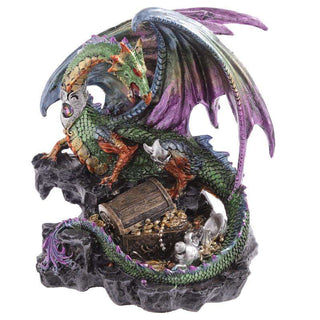 Treasure Seeker Dark Legends Dragon Figurine from Pukkagifts.uk