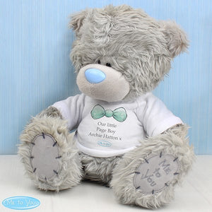 Personalised Me To You Boy's Teddy Bear with T-Shirt For Pageboy and Usher from Pukkagifts.uk