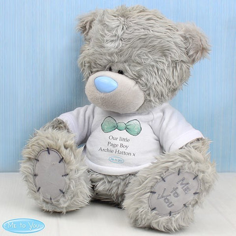 Personalised Me To You Boy's Teddy Bear with T-Shirt For Pageboy and Usher