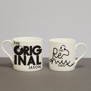 Set Of 2 Personalised Mugs - The Original & The Remix,Pukka Gifts