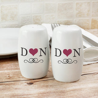 Personalised Initials Salt and Pepper Set from Pukkagifts.uk