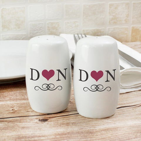 Personalised Initials Salt and Pepper Set