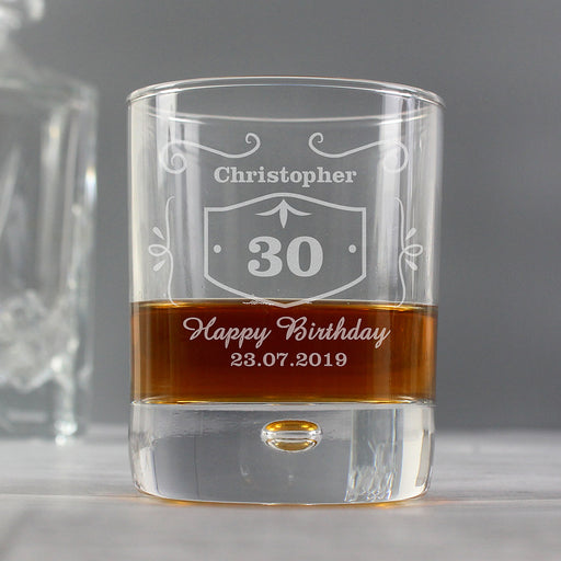 Personalised Birthday Whisky Glass