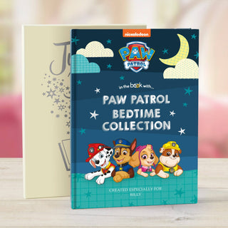 Personalised Paw Patrol Book - Bedtime Stories Collection - Free Gift Box