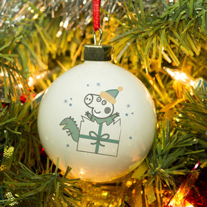 Personalised Peppa Pig George Pig Bauble