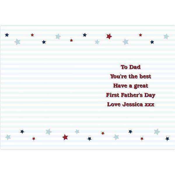Personalised Happy 1st Father's Day Card from Pukkagifts.uk
