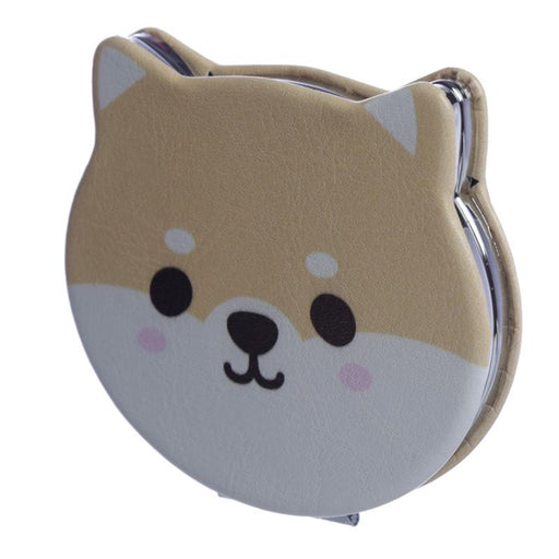 Shiba Inu Dog Shaped Compact Mirror