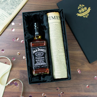 Jack Daniel's Whiskey and Original Newspaper Gift Set
