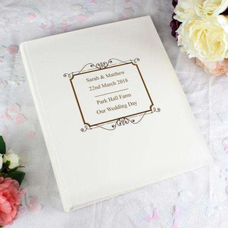 Personalised Gold Traditional Photo Album from Pukkagifts.uk