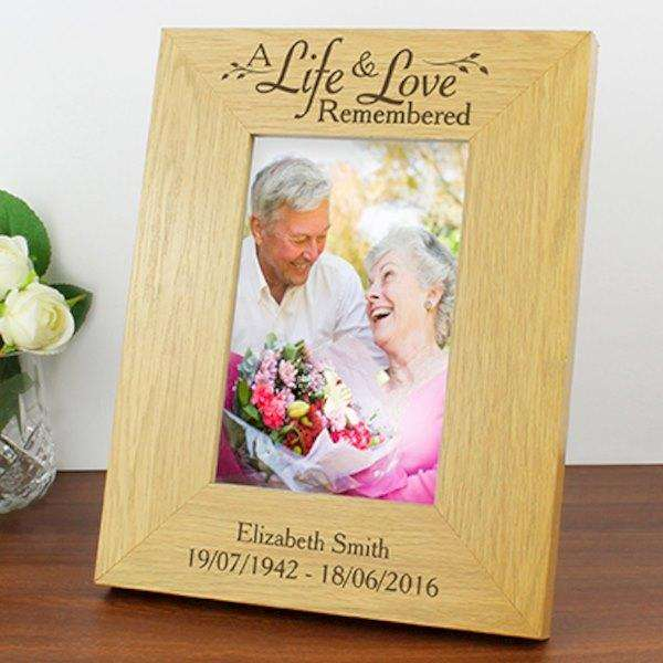 Personalised A Life & Love Remembered Photo Frame from Pukkagifts.uk