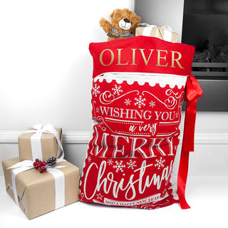 Personalised Traditional Santa Sack
