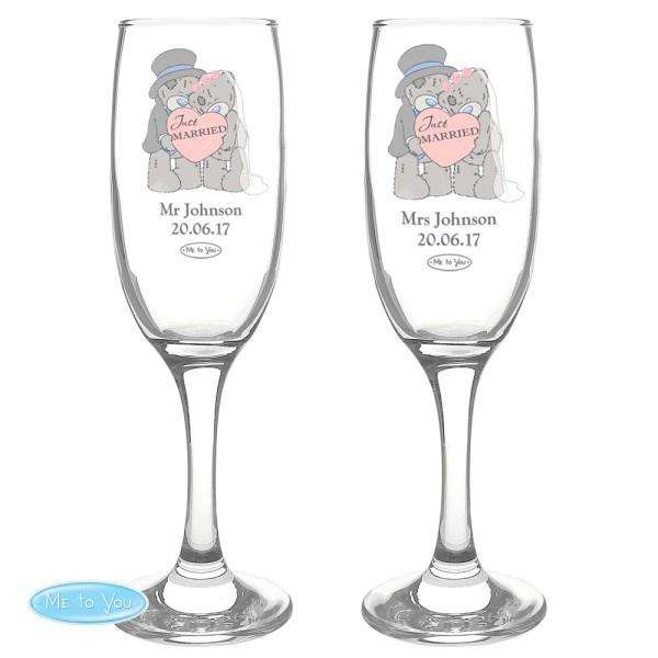 Personalised Me To You Wedding Pair of Flutes with Gift Box from Pukkagifts.uk