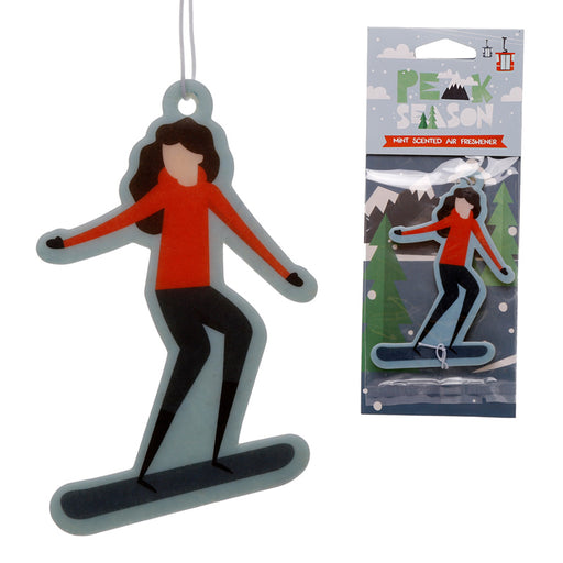 Snowboarding Mint Scented Car Air Freshener