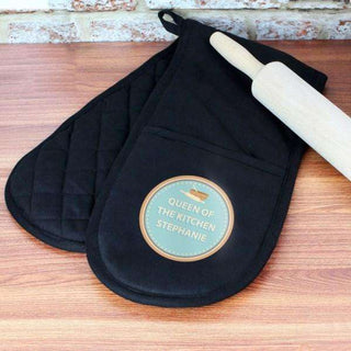 Personalised Baker Oven Gloves from Pukkagifts.uk