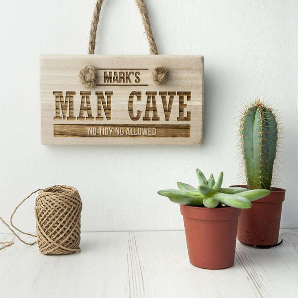 Personalised Wooden Man Cave Sign from Pukkagifts.uk