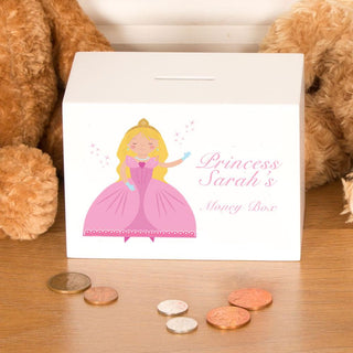 Personalised Princess Wooden Money Box