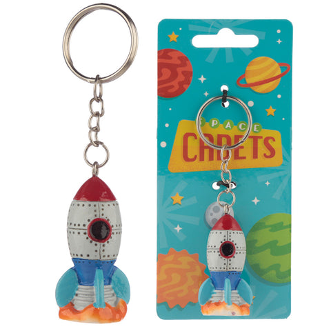 Space Rocket Keyring