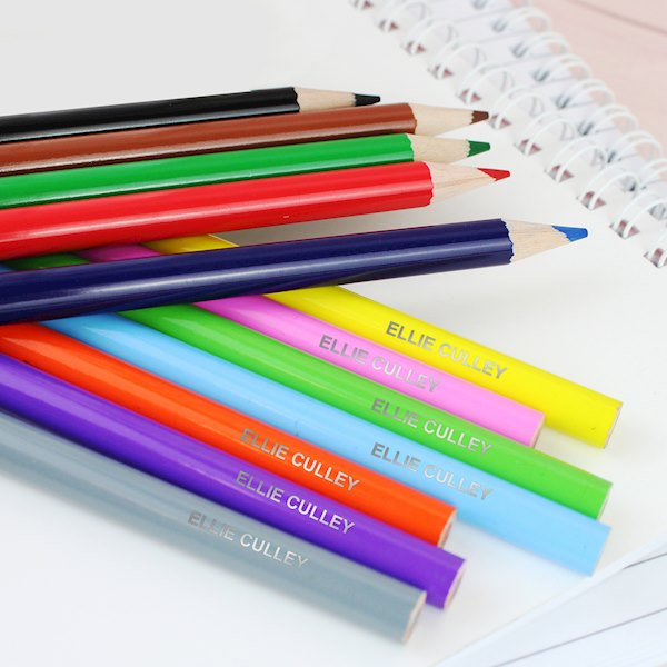 Personalised Colouring Pencils Pack of 12