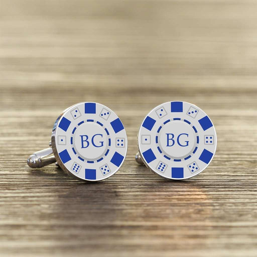 Personalised Poker Chip Cufflinks from Pukkagifts.uk