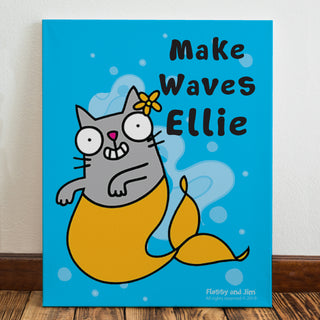 Personalised Purrmaid Canvas