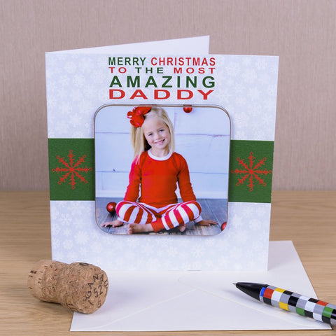 Merry Christmas To The Most Amazing Greetings Card With Photo Coaster