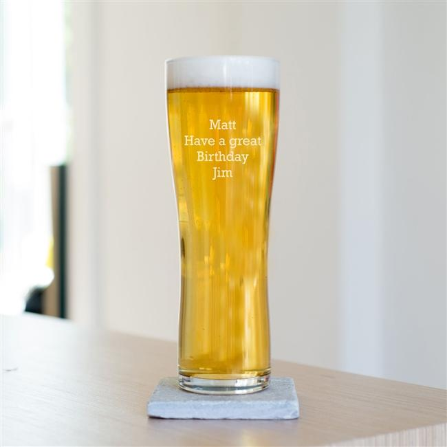 Personalised Special Message Pint Beer Glass