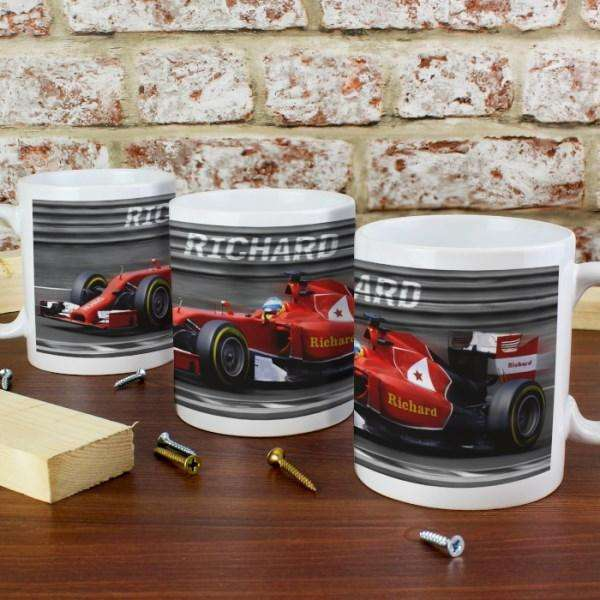 Personalised Formula 1 Mug from Pukkagifts.uk