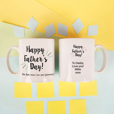 Personalised Happy Fathers Day Mug