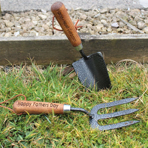 Personalised Draper Fork And Trowel Gardening Tool Set from Pukkagifts.uk