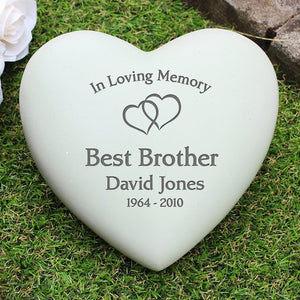 Personalised Floating Hearts Heart Memorial from Pukkagifts.uk