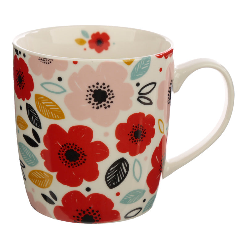Poppy Fields Porcelain Mug - Free UK Delivery