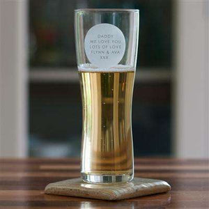 Personalised Pint Glass from Pukkagifts.uk