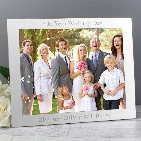 Personalised Silver Photo Frame 10x8 from Pukkagifts.uk