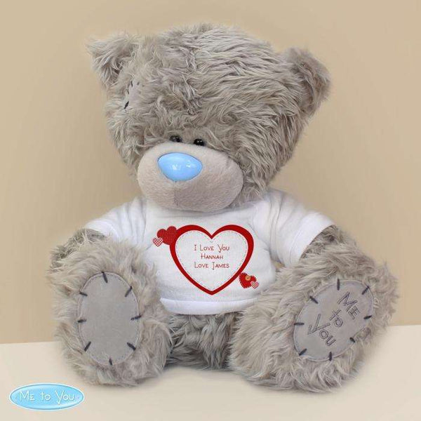 Personalised Love Heart Me To You Teddy Bear from Pukkagifts.uk