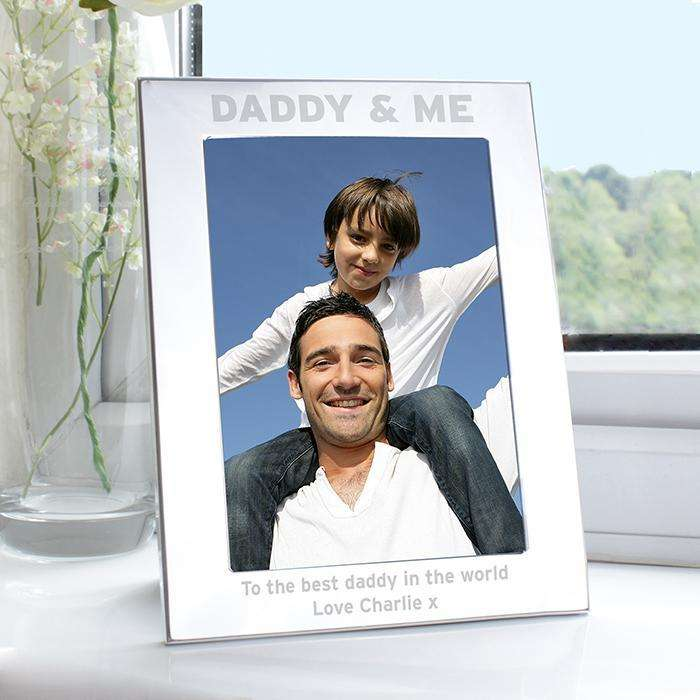 Personalised Silver 5x7 Daddy & Me Photo Frame from Pukkagifts.uk