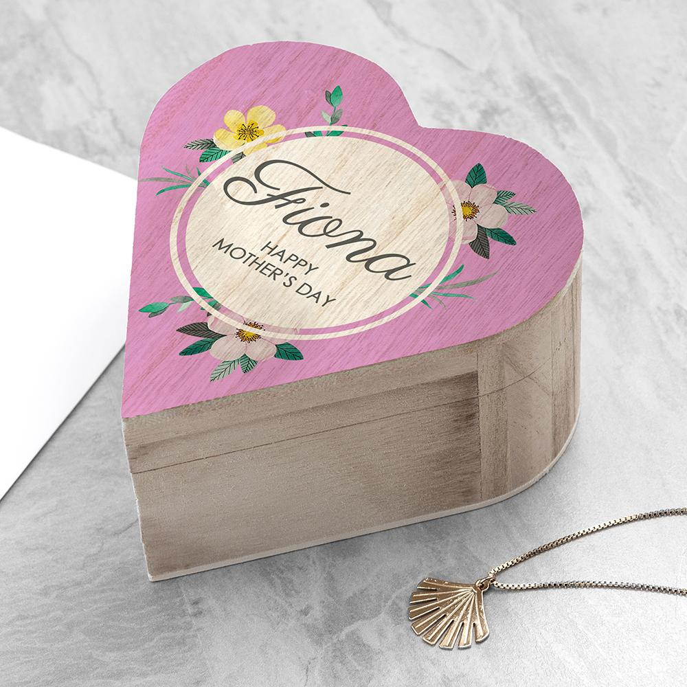 Personalised Mother's Day Heart Trinket Box from Pukkagifts.uk