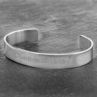 Personalised Stainless Steel Bangle from Pukkagifts.uk