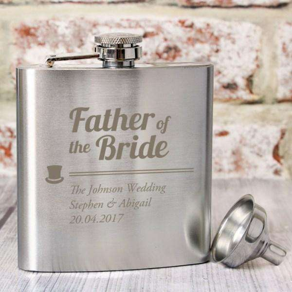Personalised Father of the Bride Hip Flask from Pukkagifts.uk