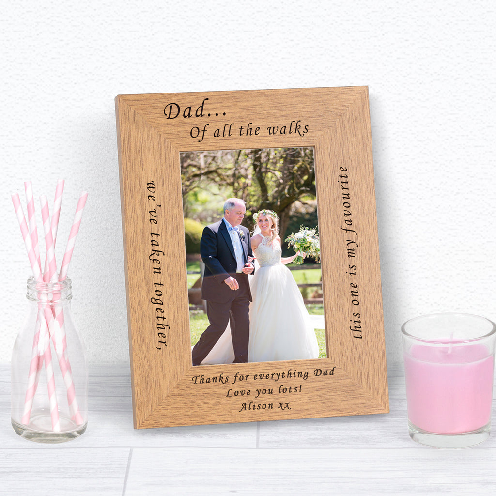 Personalised Dad Of All The Walks We've Taken Photo Frame from Pukkagifts.uk