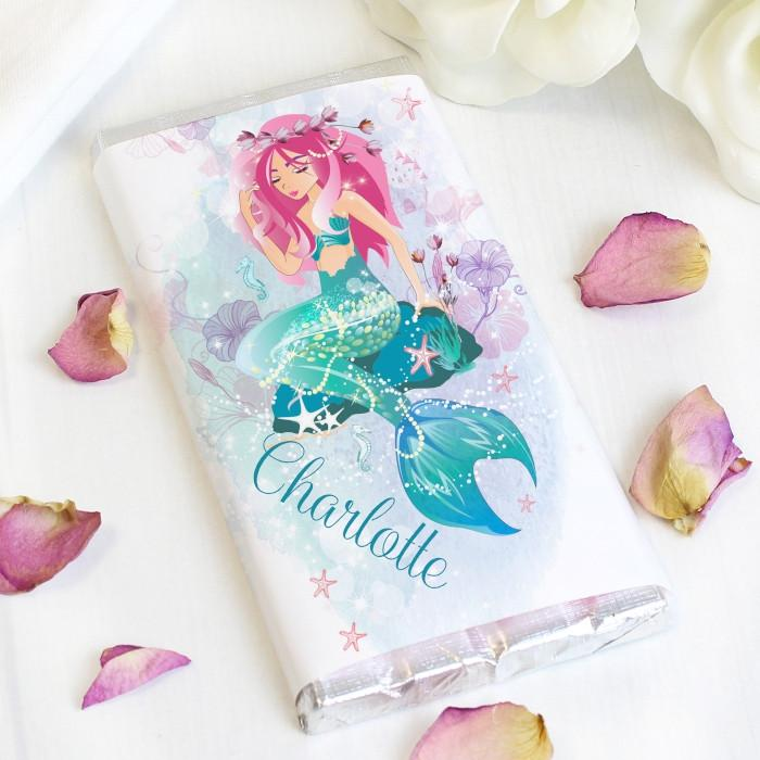 Personalised Mermaid Chocolate Bar Free UK Delivery from Pukkagifts.uk