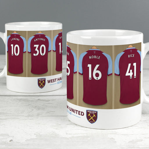 Personalised West Ham United Football Club Dressing Room Mug
