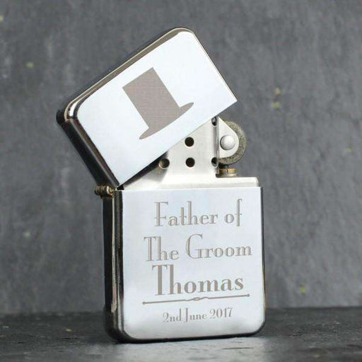Personalised Decorative Wedding Father of the Groom Lighter from Pukkagifts.uk