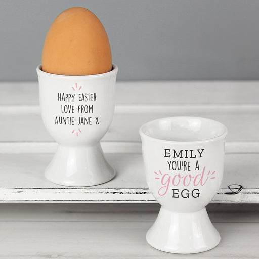 Personalised Youre A Good Egg Egg Cup