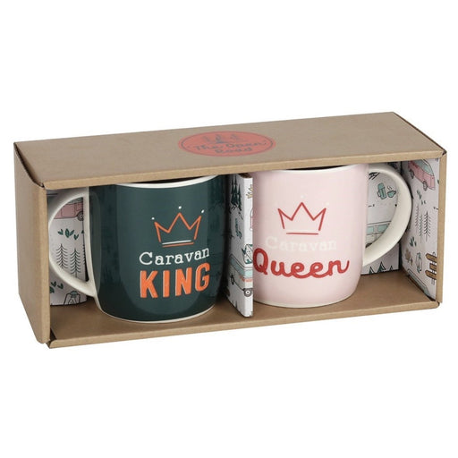 Caravan King and Queen Mug Set