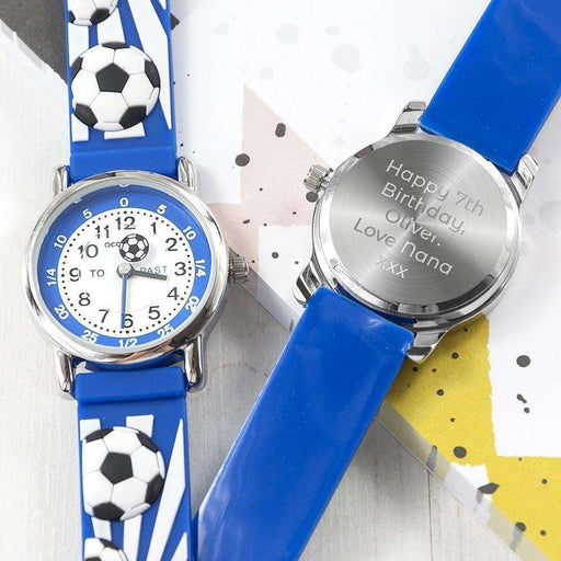 Personalised Football Watch from Pukkagifts.uk