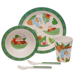 Sloth Bamboo Eco Friendly Tableware Set