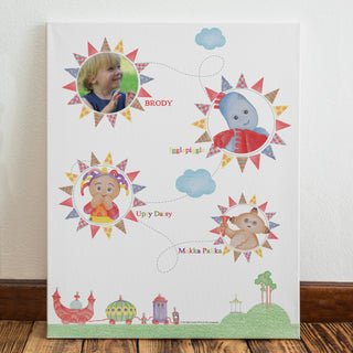 Personalised In The Night Garden Colouring Book Photo Canvas from Pukkagifts.uk
