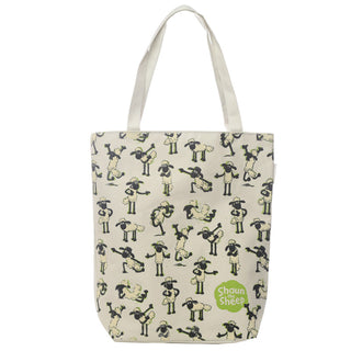 Shaun the Sheep Cotton Zip Up Shopping Bag