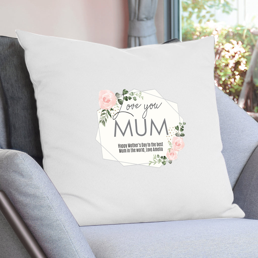 Personalised Abstract Rose Cream Cushion Cover